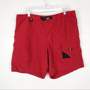 Eddie Bauer Men's Red Swim Trunks with Pockets